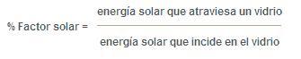 Vidrio control solar: factor solar