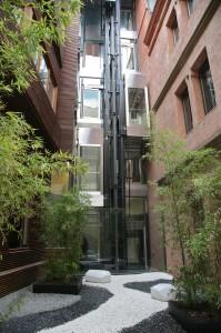 Ascensores panorámicos de cristal Hotel Catalonia Catedral